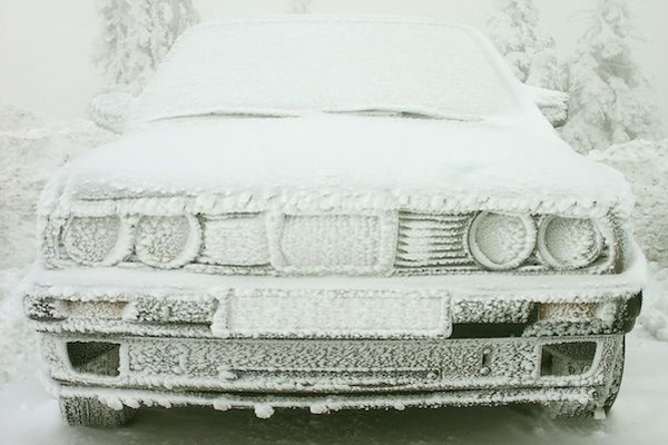 Car needing to be defrosted