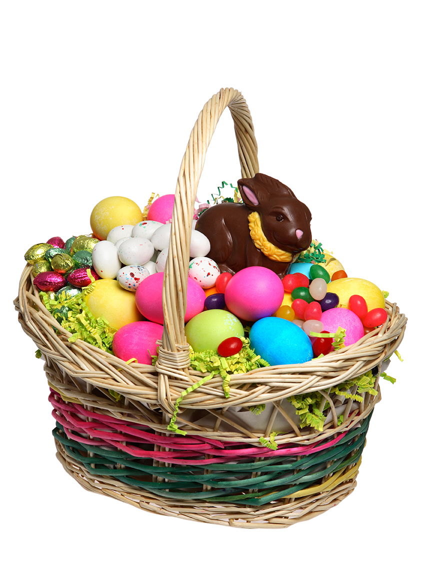 Easter basket with goodies