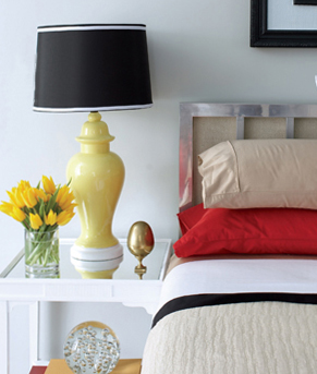 Bed and Nightstand - Bedroom Inspiration