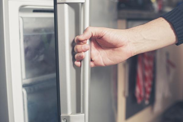 opening refrigerator door