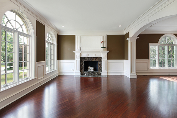 Dining Room Area with Refinished Wood Floors