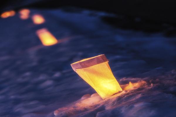 Paper bag outdoor lights