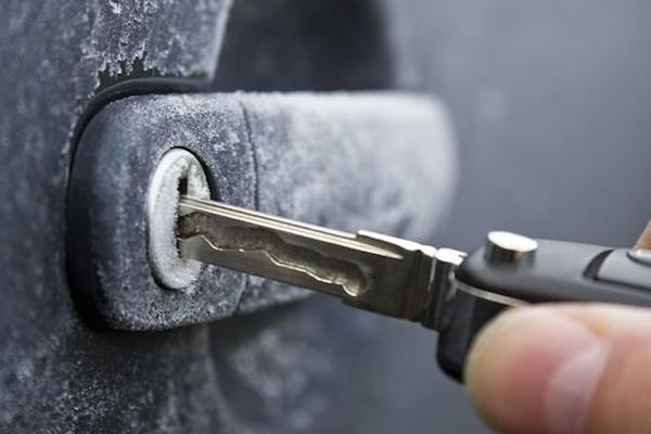 Defrost doors of car