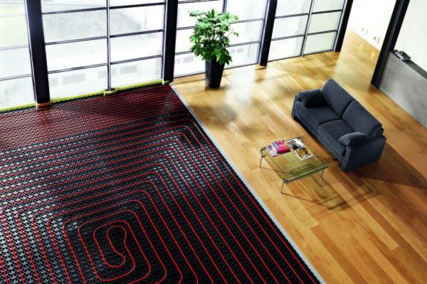 Radiant Floor Heating in a Living Room