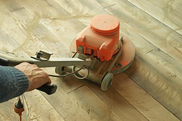 Floor sander on hardwood floors
