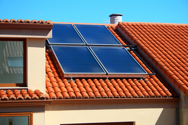 Solar Panels on roof of home