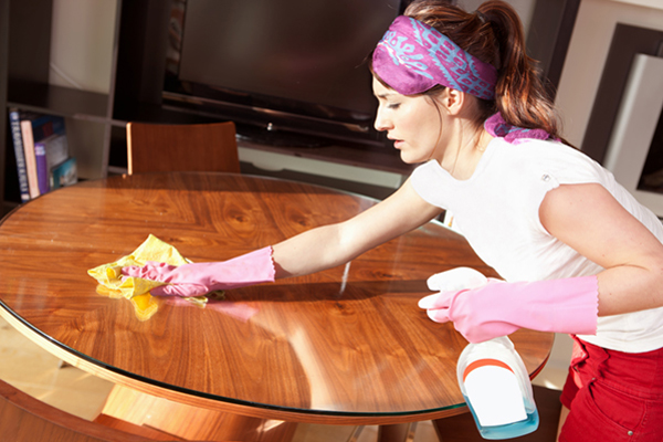 Cleaning Dining Room