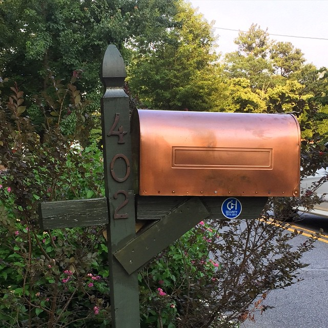 DIY Copper Mail Box