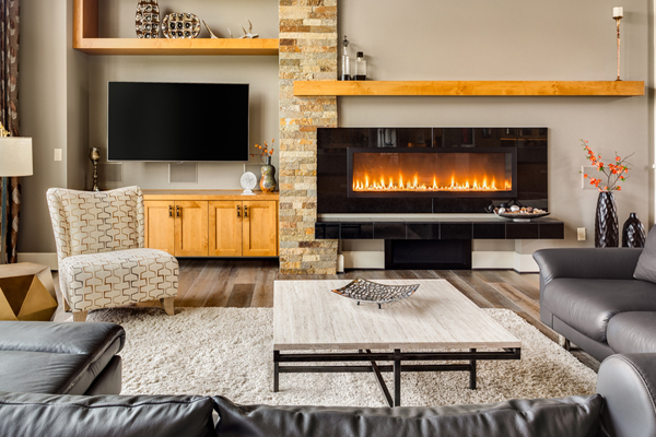 Ventless Fireplace in a living room