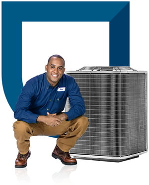 Contractor with Air Conditioning Unit